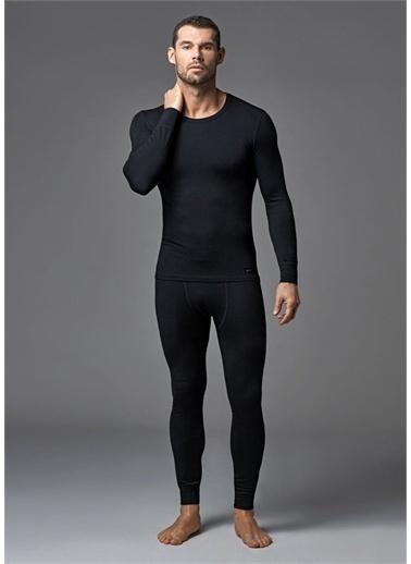 Dagi Antrasit Sifir Yaka Uzun Kol Erkek Termal Içlik Tek Üst Siyah